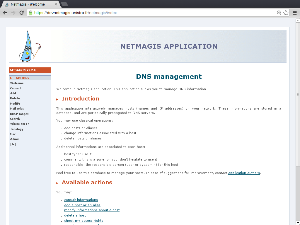 Netmagis - Installation manual